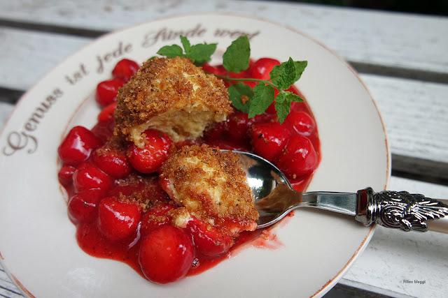 Rezept für Quarkknödel und Erdbeerragout