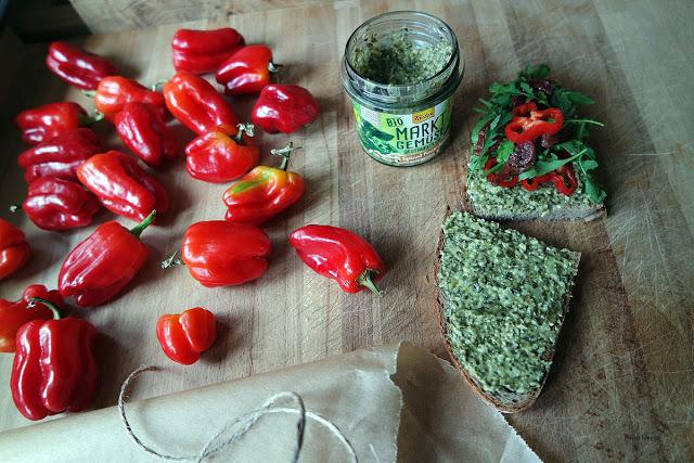 Mini-Paprika aus eigener Ernte