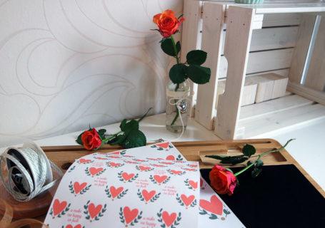 Valentinstag Geschenkverpackung