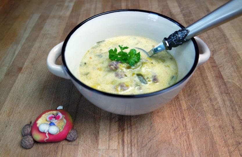 Käsesuppe mit Porree