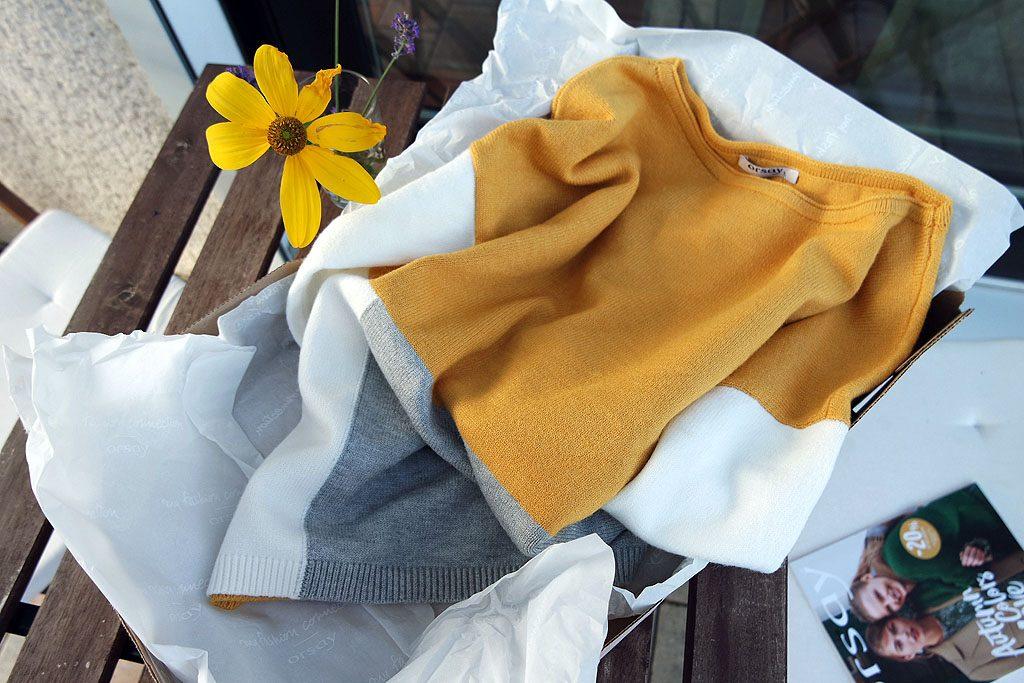 Pullover senfgelb