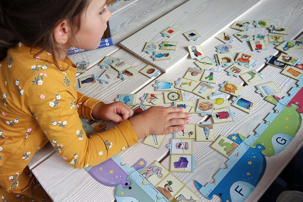 Puzzleteile sortieren