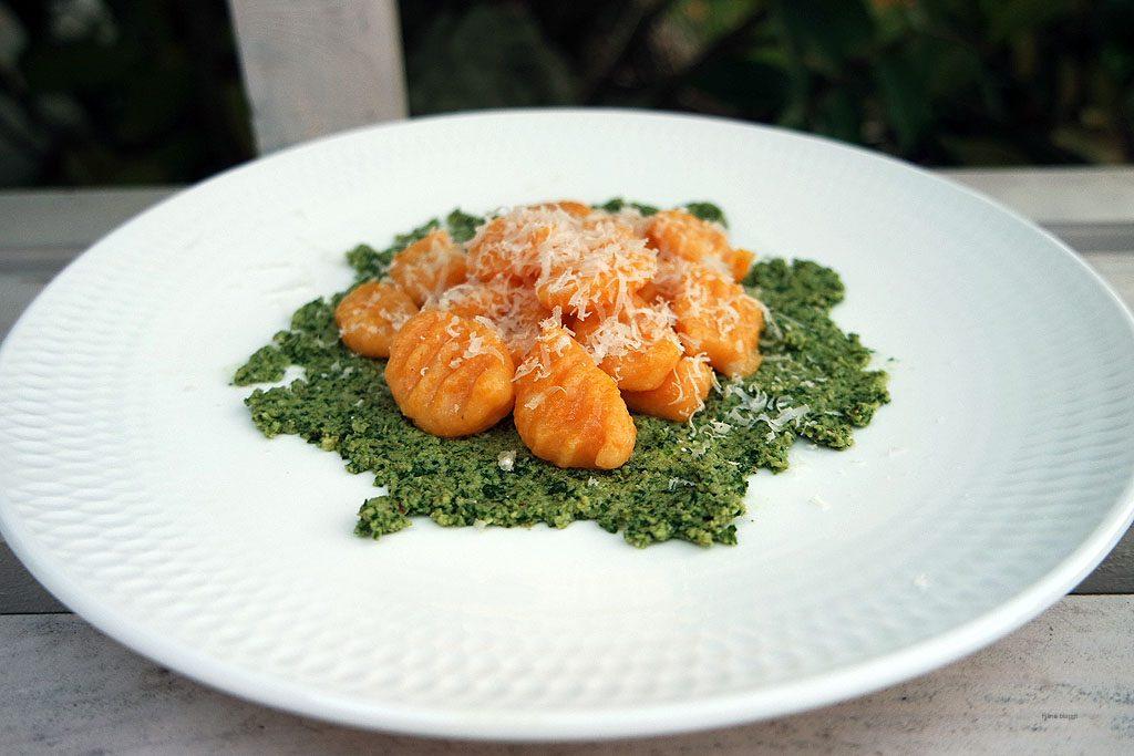 Rezept für Gnocchis auf Pesto