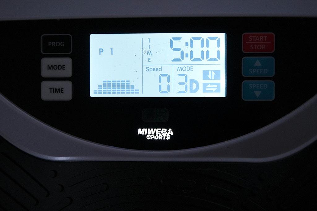 Programmauswahl Miweba Vibrationsplatte