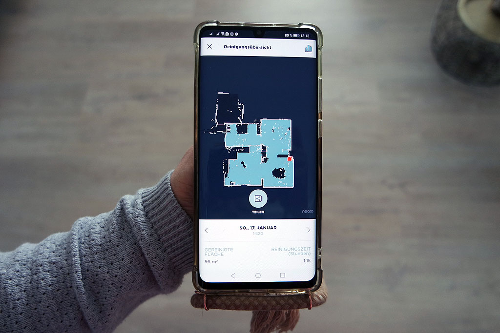 Neato App für Steuerung des Saugroboters