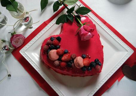 Buttercreme Herztorte Valentinstag