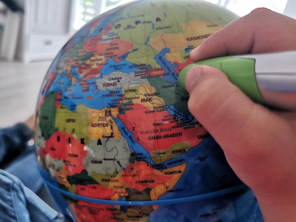 Wissenswertes auf der Weltkugel