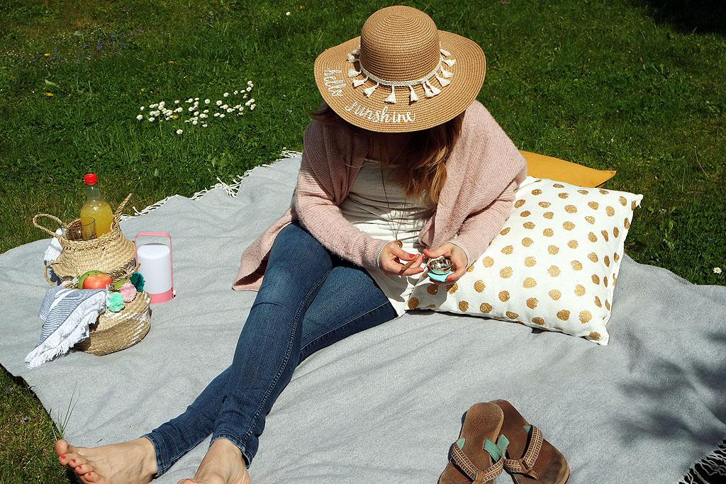 Klangschale, Entspannung im Garten