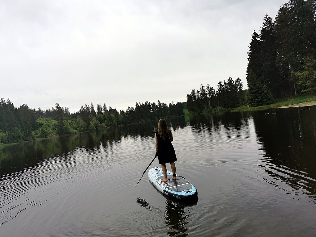 Entspannung am See mit SUP