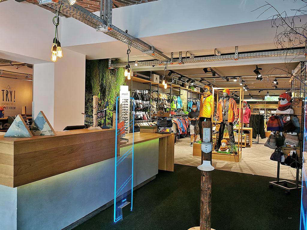 Eingangsbereich Shop Clip ´n Climb
